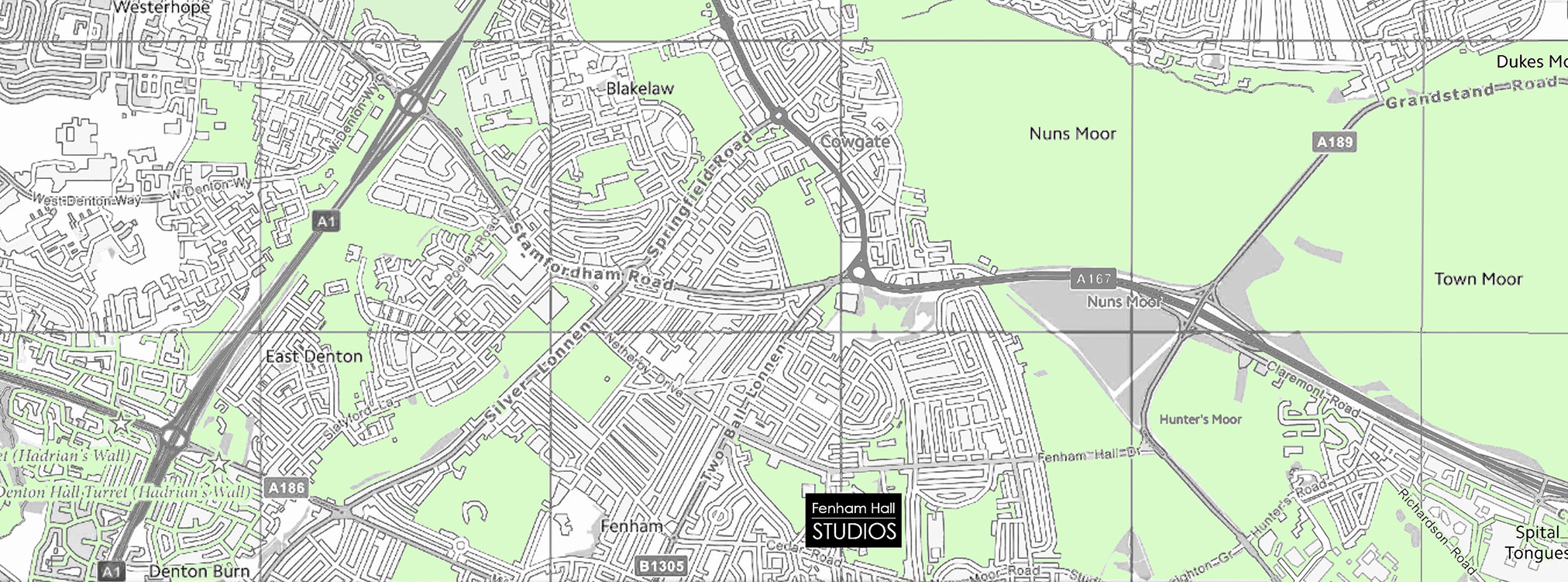 Fenham Hall Studios Map