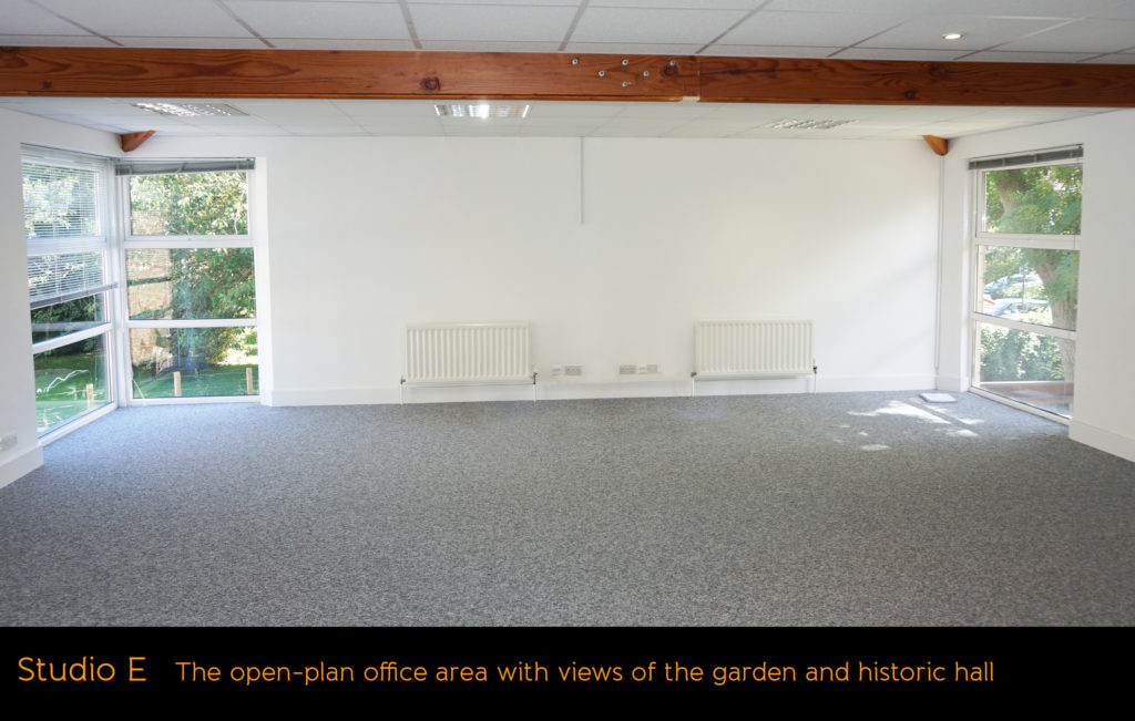 Photo of Studio E at Fenham Hall Studios, an office to let which is suitable for social distancing
