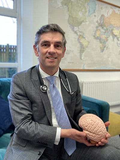 Dr Stephen Westgarth in the new consulting rooms at Fenham Hall Studios